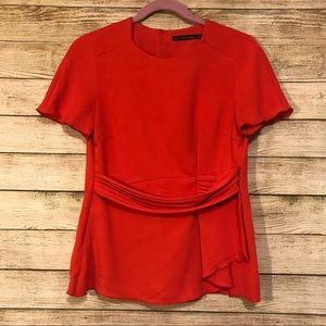 Red Blouse | Zara Basic